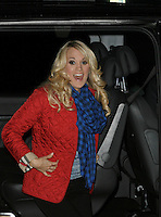 Carrie Underwood arrives at BBC Radio 2 in central London for an interview with Simon Mayo on Wednesday Evening 13 March