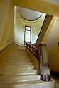 12/1/2006--Kolkata (Calcutta), India..The Jagat Tara Alay art deco palace on 101 Sovabazar St. in North Calcutta. Main staircase...Photograph By Stuart Isett.All photographs ©2006 Stuart Isett.All rights reserved.