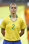 09 August 2008: Simone (BRA).  The women's Olympic soccer team of Brazil defeated the women's Olympic soccer team of North Korea 2-1 at Shenyang Olympic Sports Center Wulihe Stadium in Shenyang, China in a Group F round-robin match in the Women's Olympic Football competition.