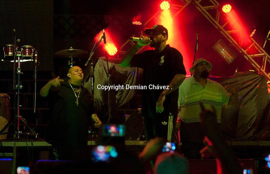 Quer&eacute;taro, Qro. 05 de abril de 2014.- Aspectos de la banda de hip hop mexicana, Cartel de Santa, durante el concierto donde compartieron espacio con Pante&oacute;n Rococ&oacute;.<br /> <br /> <br /> Foto: Demian Ch&aacute;vez / Obture Press Agency.