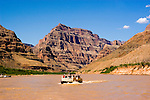 Scenic, Grand Canyon Boat Trip, Boating, pontoon boat on Colorado River, Arizona, AZ, cliffs, landscape, horizontal, arid, erosion, nature, muddy water, no model release, Image nv464-18784.Photo copyright: Lee Foster, www.fostertravel.com, lee@fostertravel.com, 510-549-2202
