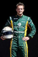 CATERHAM RENAULT DUTCH DRIVER, GIEDO VAN DER GARDE. .Melbourne 16/03/2013 .Formula 1 Gp Australia.Foto Insidefoto.ITALY ONLY .Posato Ritratto Pilota