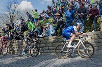 Tom Boonen (BEL/Quick-Step Floors) fires the peloton up the infamous Muur van Geraardsbergen (1100m/7.6%) that is back in the parcours after a 5 year hiatus<br /> <br /> 101th Ronde Van Vlaanderen 2017 (1.UWT)<br /> 1day race: Antwerp &rsaquo; Oudenaarde - BEL (260km)