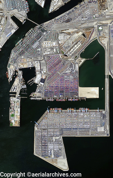 aerial map of the Port of Los Angeles California