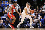 11 November 2016: Duke's Luke Kennard (5) and Marist's Brian Parker (2). The Duke University Blue Devils hosted the Marist College Red Foxes at Cameron Indoor Stadium in Durham, North Carolina in a 2016-17 NCAA Division I Men's Basketball game. Duke won the game 94-49.