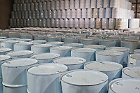 Drums of Maple syrup are stacked in the International Strategic Reserve in Saint-Antoine-de-Tilly, 40km South-West of Quebec City Wednesday March 30, 2011. Asian market is going to buy Maple Syrup at a premium and Canada is ready to cash in.