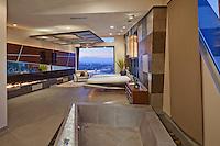 Stock photo of lavish ultra modern master suite