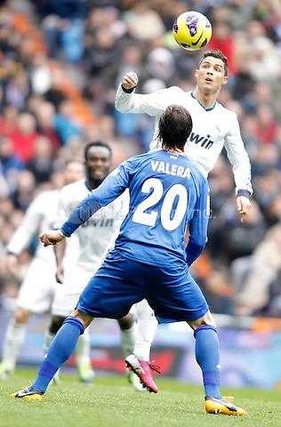 Real Madrid's Cristiano Ronaldo during La Liga match. January 27, 2013. (ALTERPHOTOS/Alvaro Hernandez) NortePhoto /MediaPunch Inc. ***FOR USA ONLY***