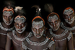 Karo warriors, Omo River Valley, Ethiopia