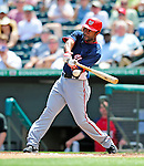 16 March 2009: Washington Nationals' outfielder Corey Patterson in action during a Spring Training game against the Florida Marlins at Roger Dean Stadium in Jupiter, Florida. The Nationals defeated the Marlins 3-1 in the Grapefruit League matchup. Mandatory Photo Credit: Ed Wolfstein Photo