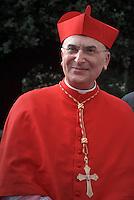 Cardinal Mario Zenari , Papal envoy to Syria, kneels beforePope Francis, during a consistory at Peter's basilica. Pope Francis has named 17 new cardinals, on November 19, 2016