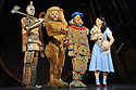 London, Uk. 25/02/2011. Tin Man (Edward Baker-Duly), Lion (David Ganly), Dorothy (Danielle Hope) and Toto (Dazzle). &quot;The Wizard of Oz&quot; opens at The London Palladium.  Written by Andrew-Lloyd Webber and Tim Rice, in their first pairing for 30 years on a new production, it stars Danielle Hope as Dorothy, Michael Crawford as The eponymous Wizard, Edward Baker-Duly as Tin Man, David Ganly as Lion and Paul Keating as Scarecrow. Picture credit should read: Jane Hobson