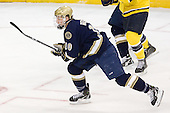 David Gerths (Notre Dame - 10) - The University of Notre Dame Fighting Irish defeated the Merrimack College Warriors 4-3 in overtime in their NCAA Northeast Regional Semi-Final on Saturday, March 26, 2011, at Verizon Wireless Arena in Manchester, New Hampshire.