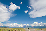 US 285 in the Sn Luis Valley of the Rocky Mountains of Colorado.
