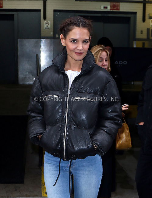 WWW.ACEPIXS.COM<br /> <br /> February 8 2016, New York City<br /> <br /> Actress Katie Holmes made an appearance at AOL Build on February 8 2016 in New York City<br /> <br /> By Line: Zelig Shaul/ACE Pictures<br /> <br /> <br /> ACE Pictures, Inc.<br /> tel: 646 769 0430<br /> Email: info@acepixs.com<br /> www.acepixs.com