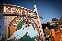 Sam Raymond owner of Keweenaw Adventure Company in Copper Harbor Michigan Michigan's Upper Peninsula.