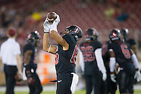 STANFORD, CA - October 8, 2016: Treyvion Foster at Stanford Stadium. The Washington State Cougars defeated the Cardinal 42-16.