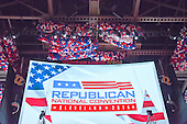 Balloons in the ceiling of the Quicken Loans Arena prior to the start of the 2016 Republican National Convention in Cleveland, Ohio on Saturday, July 16, 2016.<br /> Credit: Ron Sachs / CNP<br /> (RESTRICTION: NO New York or New Jersey Newspapers or newspapers within a 75 mile radius of New York City)