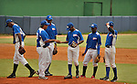 """Final game of the """"Torneo Supremo"""" at the Quiskeya National Stadium in Santo Domingo. The Tournament which aims to maximize the ability of Major League Baseball organizations to scout in the Dominican Republic. According to the MLB's office in the Dominican Republic, this year, the tournament introduced 23 new baseball prospects. July 29 2011. ViewPress/ Kena Betancur"""