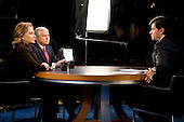 Washington, DC - December 6, 2009 -- United States Secretary of Defense Robert M. Gates and Secretary of State Hillary Clinton talk with ABC's This Week host George Stephanopoulos in Washington, D.C., Sunday, December 6, 2009.  This was the first time that the two cabinet members had appeared on Sunday morning talk shows together.  .Mandatory Credit: Cherie Cullen - DoD via CNP