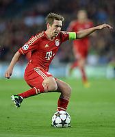 FUSSBALL  CHAMPIONS LEAGUE  HALBFINALE  RUECKSPIEL  2012/2013      FC Barcelona - FC Bayern Muenchen              01.05.2013 Philipp Lahm (FC Bayern Muenchen) Einzelaktion am Ball