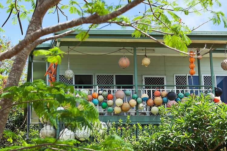 House decorated with fishing floats. Thursday Island, Torres Strait Islands, Queensland, Australia