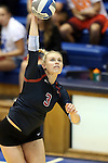 11 September 2015: Stanford's Hayley Hodson. The Duke University Devils hosted the Stanford University Cardinal at Cameron Indoor Stadium in Durham, NC in a 2015 NCAA Division I Women's Volleyball contest. Stanford won the match 3-2 (17-25, 25-22, 17-25, 25-23, 10-15).