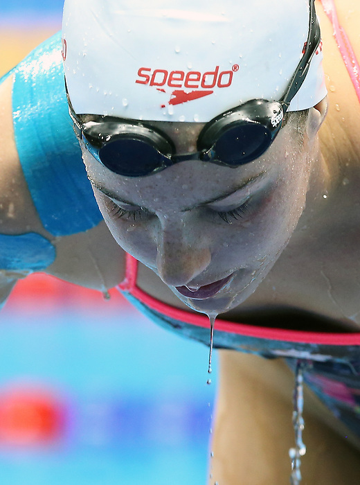 Rio de Janeiro-6/9/2016-Canadian swimmer  Aurelie Rivard practices at the Olympic Aquatics Stadium prior to the Paralympic Games in Rio. Photo Scott Grant/Canadian Paralympic Committee