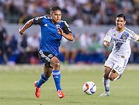CARSON, CA - July 17, 2015: The LA Galaxy vs San Jose Earthquakes match at the StubHub Center in Carson, California. Final score, LA Galaxy 5, San Jose Earthquakes 2.