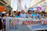 Roma 15 Giugno 2013<br /> GayPride 2013.<br /> La Sfilata del Gay pride, la giornat&agrave; dell' orgoglio omossessuale per le vie della citt&agrave;