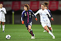 (L to R) Mizuho Sakaguchi (JPN), Lauren Cheney (USA), .April 1, 2012 - Football / Soccer : .KIRIN Challenge Cup 2012 .Match between Japan 1-1 USA .at Yurtec Stadium Sendai, Miyagi, Japan. .(Photo by Daiju Kitamura/AFLO SPORT) [1045]..
