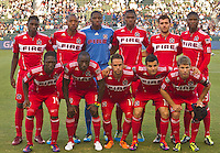 CARSON, CA – July 9, 2011: Chicago Fire starting line-up for the match between LA Galaxy and Chicago Fire at the Home Depot Center in Carson, California. Final score LA Galaxy 2, Chicago Fire FC 1.