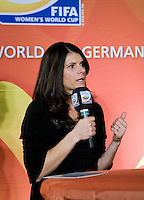 Mia Hamm. A Welcome USA reception for the FIFA Women's World Cup 2011 was held at the German ambassador's residence in Washington, DC.