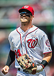15 May 2016: Washington Nationals outfielder Bryce Harper returns to the dugout during a game against the Miami Marlins at Nationals Park in Washington, DC. The Marlins defeated the Nationals 5-1 in the final game of their 4-game series.  Mandatory Credit: Ed Wolfstein Photo *** RAW (NEF) Image File Available ***