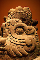 Xicoatl, the Aztec fire serpent. Museo Nacional de Antropologia, Chapultepec Park, Mexico City.