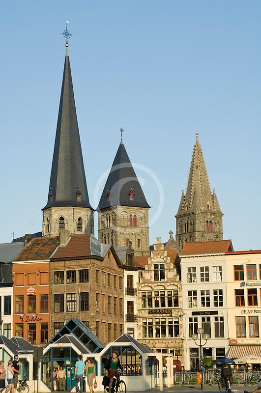 Belgium, Ghent, Church towers