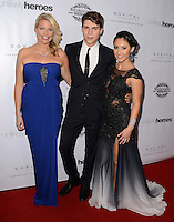 LOS ANGELES, CA, USA - NOVEMBER 08: Erica Greve, Nolan Gerard Funk, Francia Raisa arrive at the Unlikely Heroes' 3rd Annual Awards Dinner And Gala held at the Sofitel Hotel on November 8, 2014 in Los Angeles, California, United States. (Photo by Celebrity Monitor)