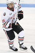 Braden Pimm (Northeastern - 14) - The Northeastern University Huskies defeated the visiting Providence College Friars 5-0 on Saturday, November 20, 2010, at Matthews Arena in Boston, Massachusetts.