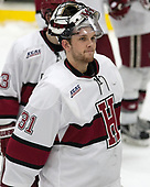 Merrick Madsen (Harvard - 31) - The Harvard University Crimson tied the visiting Yale University Bulldogs 1-1 on Saturday, January 21, 2017, at the Bright-Landry Hockey Center in Boston, Massachusetts.