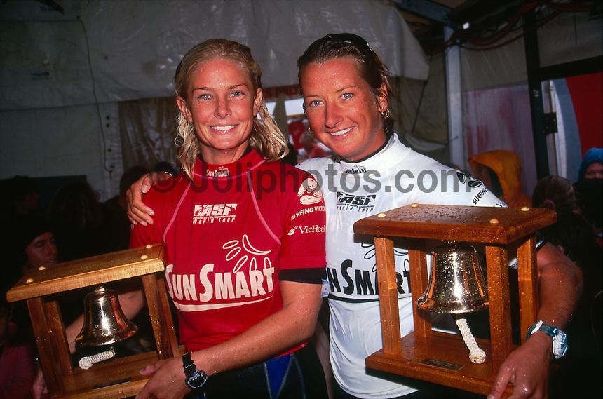 Layne Beachley and Prue Jefferies (AUS) Australian Hall of Fame Victoria Australia 1998. Photo:  joliphotos.com