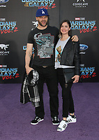 """HOLLYWOOD, CA - April 19: Evan Jones, Rebecca Glatt, At Premiere Of Disney And Marvel's """"Guardians Of The Galaxy Vol. 2"""" At The Dolby Theatre  In California on April 19, 2017. Credit: FS/MediaPunch"""