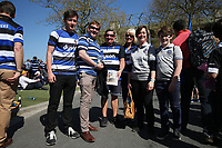 Bath Rugby supporters pose for a photo. The Clash, Aviva Premiership match, between Bath Rugby and Leicester Tigers on April 8, 2017 at Twickenham Stadium in London, England. Photo by: Rogan Thomson / JMP for Onside Images
