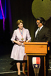 Laura Bush and Jesus Moroles at the Texas Medal of Arts Awards, Austin Texas, April 7, 2009. The Texas Medal of Arts Awards is a celebration by the Texas Cultural Trust of the finest in Texas artists. Laura Bush is a former First Lady and Jesus Moroles is a Texas Sculptor.