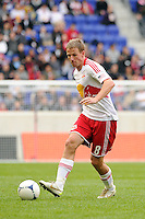 Jan Gunnar Solli (8) of the New York Red Bulls. The New York Red Bulls defeated the Colorado Rapids 4-1 during a Major League Soccer (MLS) match at Red Bull Arena in Harrison, NJ, on March 25, 2012.