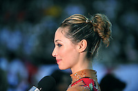Irina Risenzon of Israel is interviewed by Israeli tv at 2010 Holon Grand Prix at Holon, Israel on September 4, 2010.  (Photo by Tom Theobald).