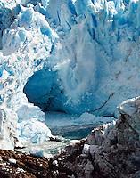 Ice falling from Glacier Perito Moreno into Lago Argentino.