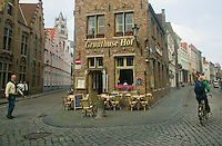 Gruuthuse Hof and surrounding streets, Bruges, Belgium