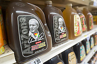 """Bottles of Arizona's Arnold Palmer Half & Half, iced tea and lemonade, in a supermarket in New York on Monday, September 26, 2016. The popular """"King of Golf"""" passed away Sunday of complications from heart problems at the age of 87. Palmer was in the vanguard of sports marketing and was one of the highest earners in the golf world. (© Richard B. Levine)"""