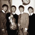 The Beatles 1963 George Harrison, Paul McCartney, John Lennon and Ringo Starr at  The Royal Albert Hall.