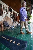 Jose Ramos- Horta, East Timor's president and Nobel Peace Prize winner leaves his house in Dili, Timor-Leste on Sunday, Oct. 23rd, 2011.  Photographer: Daniel J. Groshong/The Hummingfish Foundation